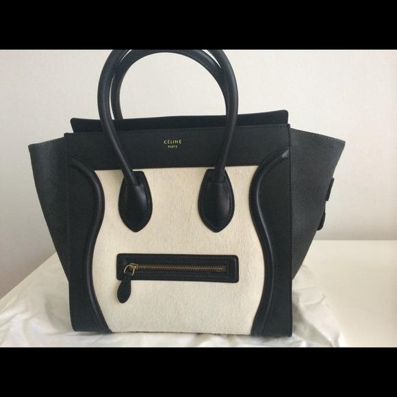2cdba090575 Celine Bags   Macro Tote Black And White Slightly Used   Poshmark