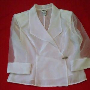 Tops White Formal Evening Blouse Poshmark