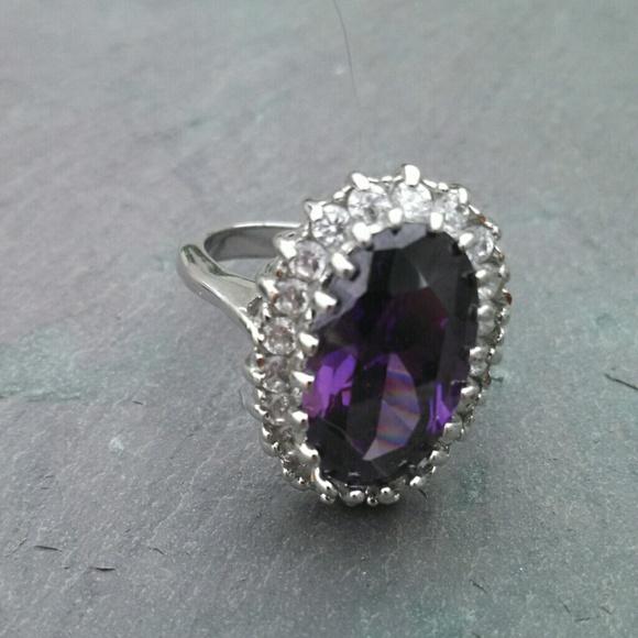 missmallymac rings purple amethyst bling halo