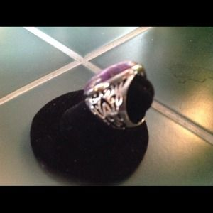 Jewelry - Genuine purple turquoise and sterling FLASH💥& 45