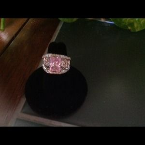 Victoria Weick Jewelry - Victoria Wieck faux pink &white bridge ring