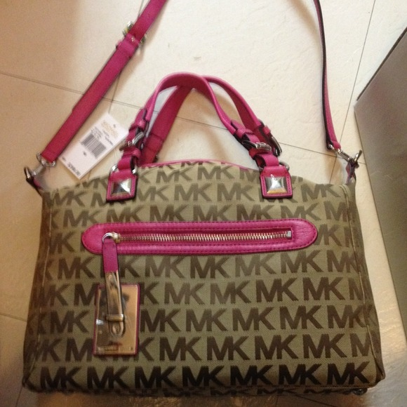 446fb044c849 michael kors purse pink and brown dillards shores sale - Marwood ...