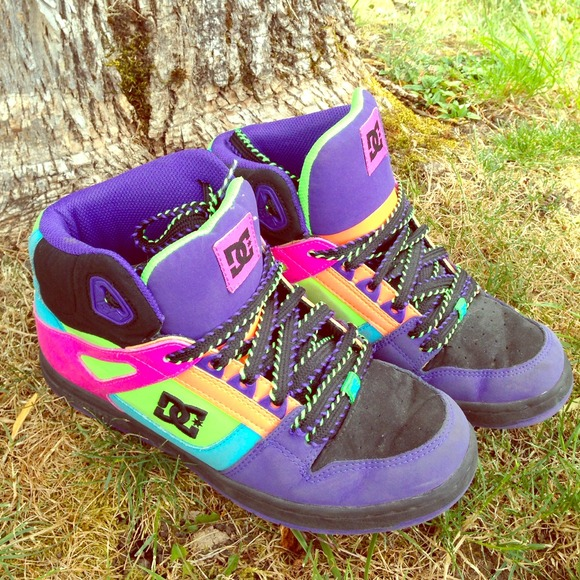 15a7a877c137 DC Shoes - DC Bright Multi Colored High Tops