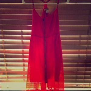 Forever 21 Dresses & Skirts - Flowy bright coral hi-low dress