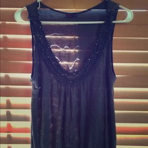 Tops - Dark grey tank