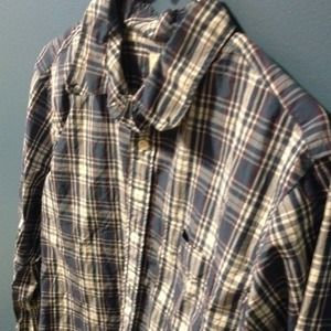 MENS: plaid blue shirt