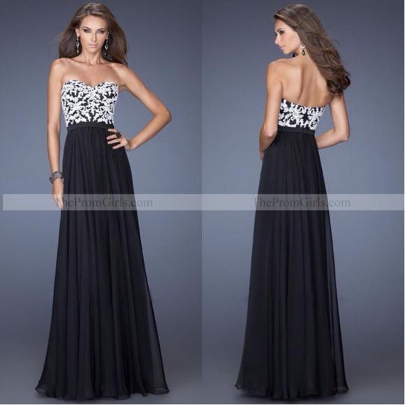 Cache Dresses Cach Black White Formal Gown Prom Dress Poshmark