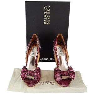 NIB Badgley Mischka Mable Wine Heels
