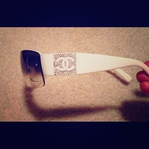 Chanel white sunglasses  authentic