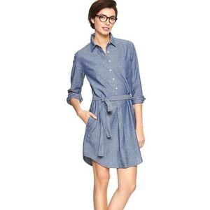 GAP Dresses & Skirts - Chambray shirt dress