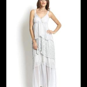 RYU Asymmetrical Tiered Maxi Dress