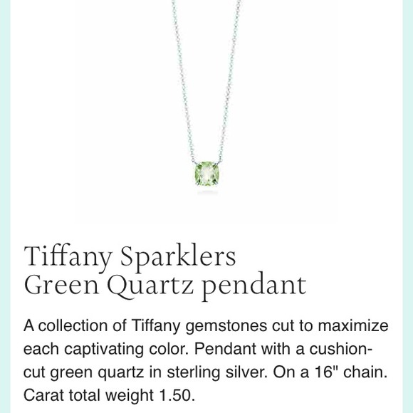 Tiffany co jewelry tiffany co sparklers green quartz pendant tiffany co sparklers green quartz pendant aloadofball Image collections