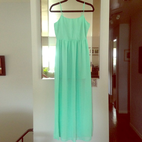 Forever 21 - F21 mint green maxi dress-small NWT from Trang's ...