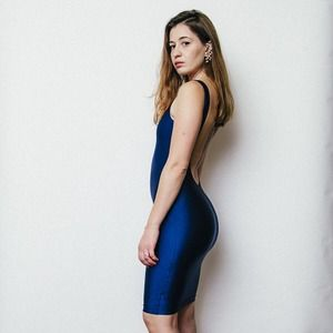 American Apparel Dresses & Skirts - Navy Scoop Back Bodycon Dress
