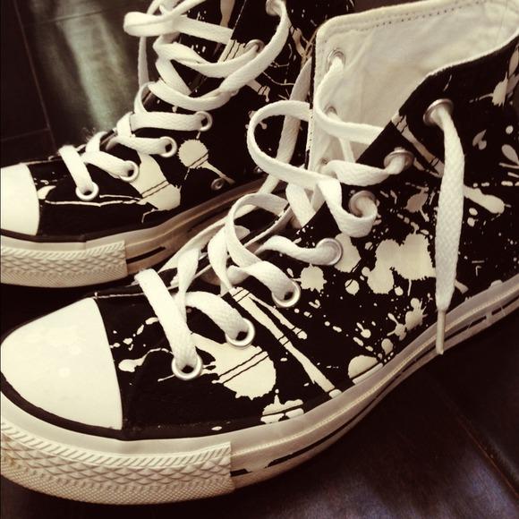 Converse Shoes Chuck Taylor Paint Splatter High Tops Poshmark