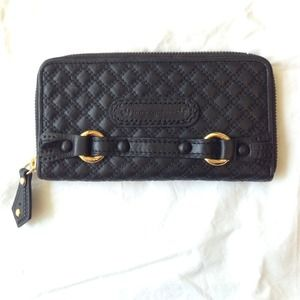 Brand New Juicy Couture black leather wallet