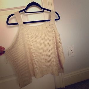 Shoulder cut-out sweater top