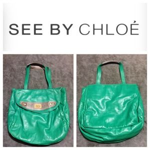 Authentic See By Chloe Mint Leather Sac