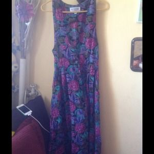 Vintage overall like floral print dress