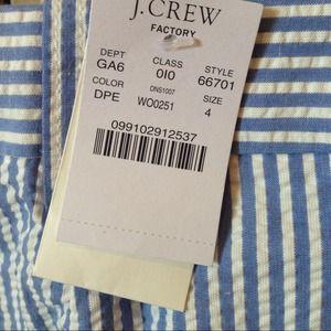 """J. Crew Pants - BRAND NEW J.Crew Factory 9"""" Short in Seersucker"""