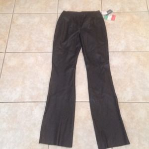 New with tags!  Leather pants Size 4
