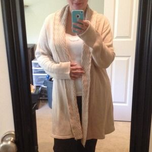 Sweaters - SUPER comfy oatmeal long knit sweater
