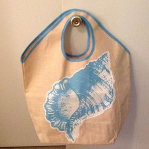 Nwot MUDPIE CONCH SHELL BEACH BAG