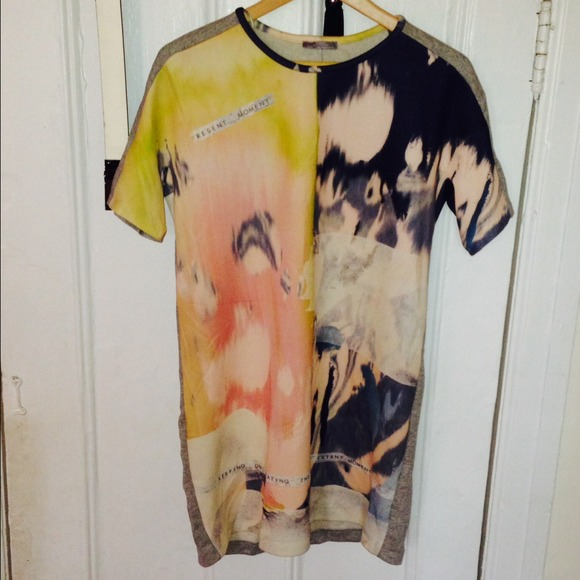 25 Off Zara Tops Zara W Amp B Collection Printed Shirt From