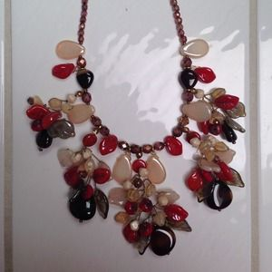 Glass and bead necklace - unique!