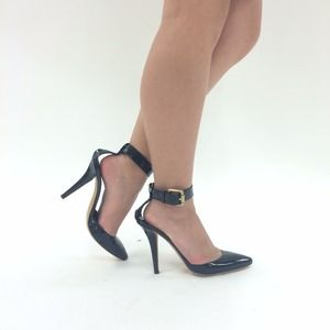 DKNY Shoes - The Perfect Classic Black Ankle Strap Pointy Pumps