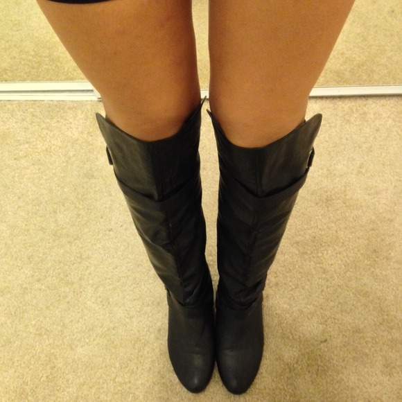 69% off Madden Girl Boots - Black knee high boots from Kristina's ...