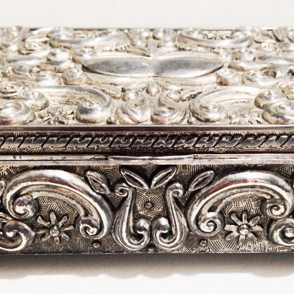 50 off Godinger Silver Jewelry Vintage Pewter Art Nouveau Box