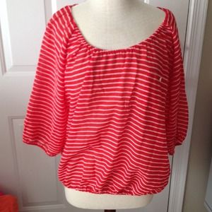 NWT J. Crew factory red and white striped top