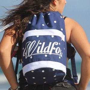 Wf WILDFOX BUCKET BACKPACK POLKA DOTS OS
