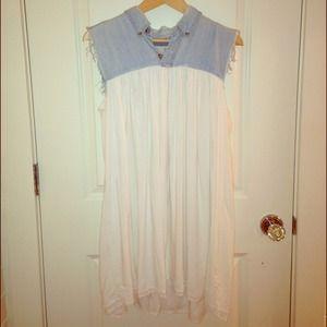 Urban Renewal denim and white dress