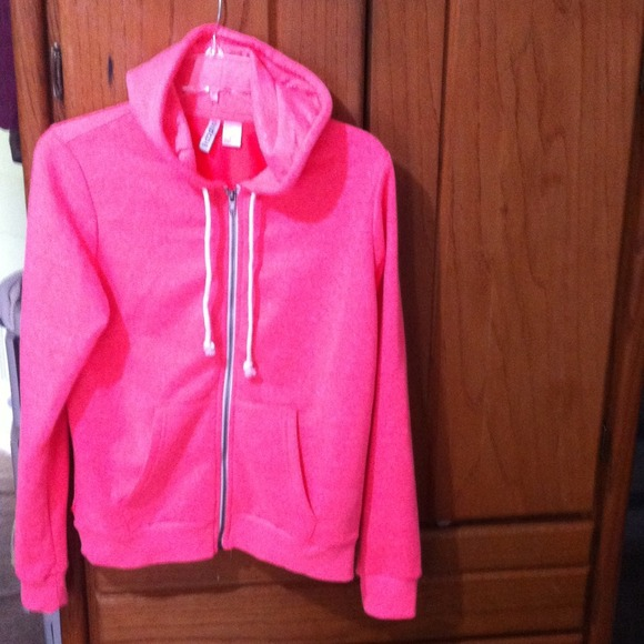 35% off H&M Outerwear - Super cute rand new bright pink hoodie ...