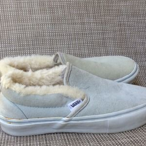 1937e6fa580713 Vans Shoes - VANS fur lined suede slip on sneaker