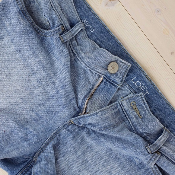 "LOFT Denim - LOFT Denim Cut Off Shorts With 3"" Inseam"