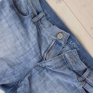 "LOFT Denim Cut Off Shorts With 3"" Inseam"