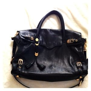 Black Leather Rebecca Minkoff Purse