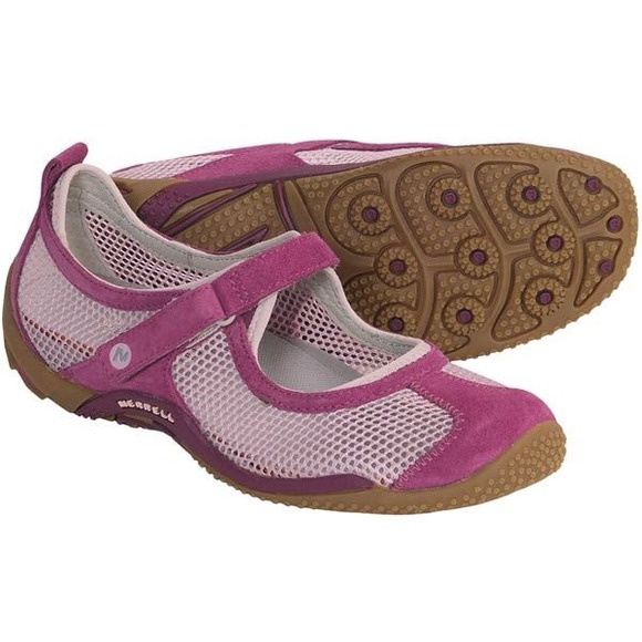 Merrell Womens Leather Mesh Mary Janes