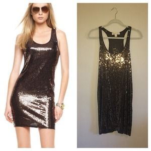 Michael Kors Brown Sequin Dress