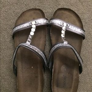 Silver studs sandal
