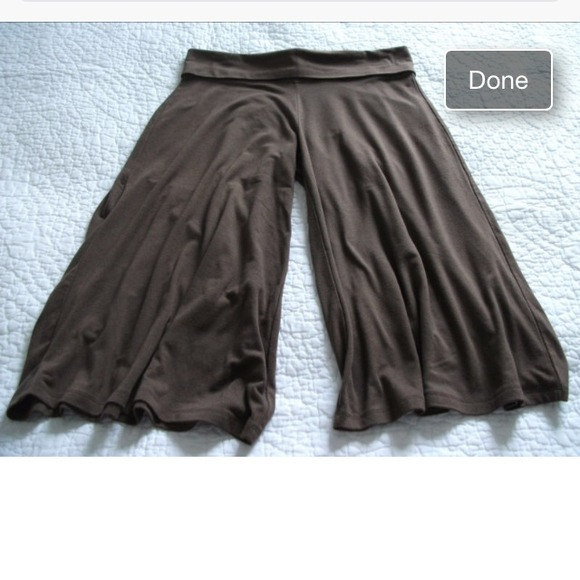 85% off Old Navy Pants - Brown Old Navy gaucho pants gouchos ...