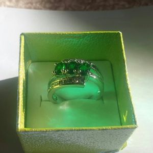 10k gold filled emerald ring
