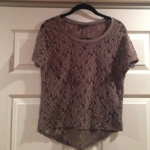 Express lace top with floral pattern