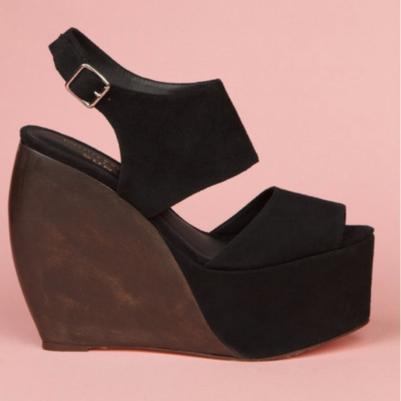 Loeffler Randall x Suno Suede Wedge Sandals best place online clearance pick a best HoZfd70