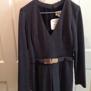 Milly Gray Wool/Polyamide Long sleeve dress L NWT
