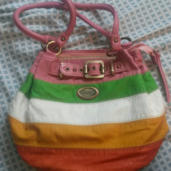 Dolce   Gabbana Handbags - Colorful Striped Dolce   Gabbana Purse NWOT 0deba05249