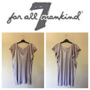 7 For All Mankind Silk Blouse Sz M
